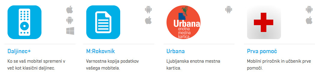 Telekom Slovenije - mobilne aplikacije